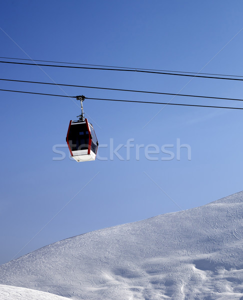 Gondola lift and off piste slope at sun morning Stock photo © BSANI