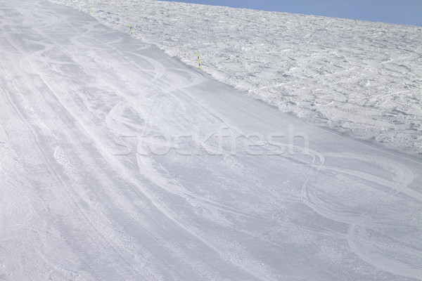 Empty ski slope at cold day Stock photo © BSANI