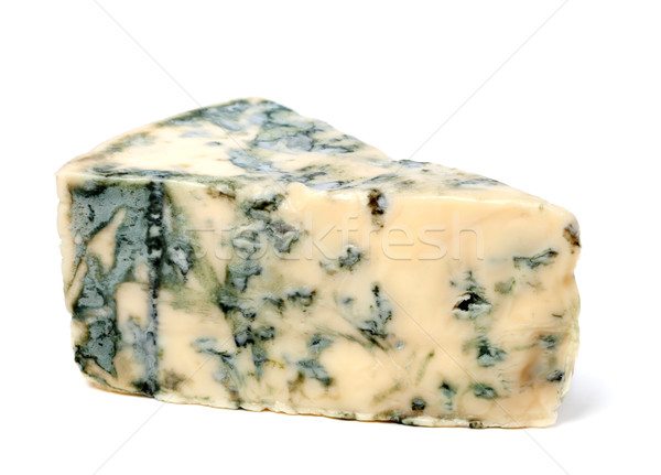 Márványsajt fehér izolált háttér kék sajt Stock fotó © BSANI
