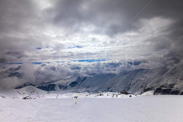 Slechte weer kaukasus bergen Georgië ski Stockfoto © BSANI