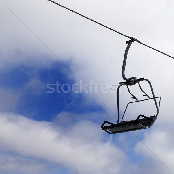 Chair-lift and cloudy sky Stock photo © BSANI