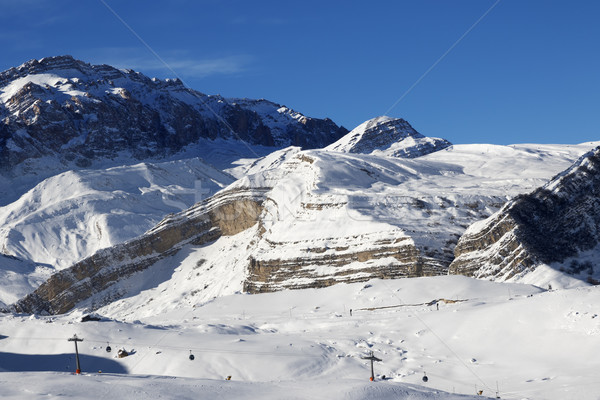 Ski resort at sunny day Stock photo © BSANI