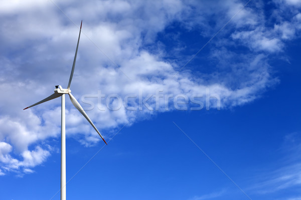 Wind turbine and blue sunlight sky Stock photo © BSANI