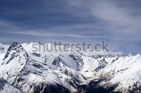 Winter Mountains. Caucasus Mountains. Stock photo © BSANI