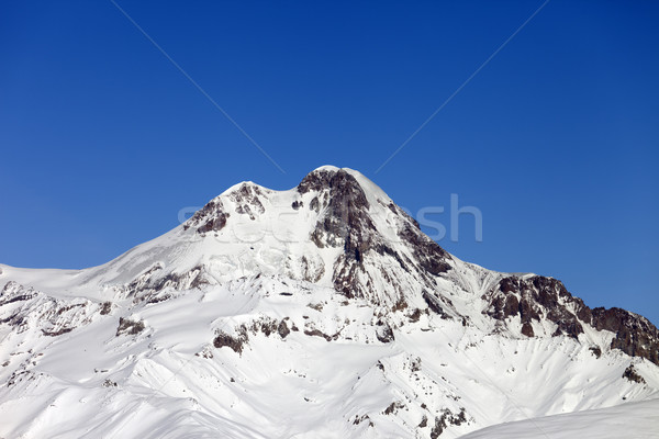 Mount Kazbek in winter Stock photo © BSANI