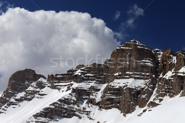 Rochas blue sky nuvens Turquia central montanhas Foto stock © BSANI