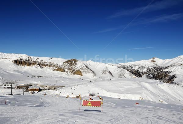 Ski slope at sun day Stock photo © BSANI