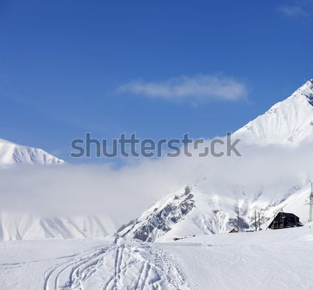 Panorama kaukasus bergen regio ski resort Stockfoto © BSANI