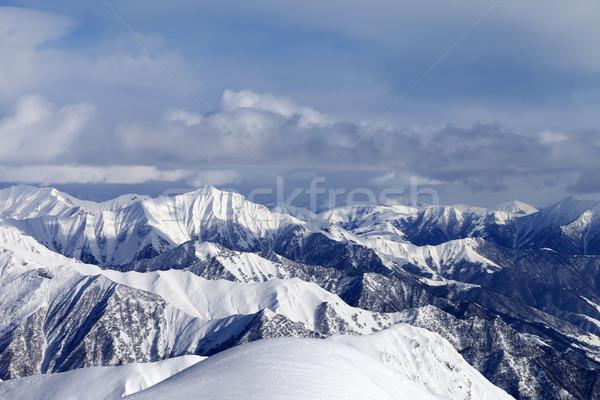View from ski slopes Stock photo © BSANI
