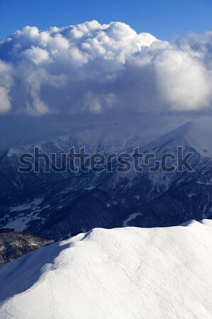 Top view on off-piste slope Stock photo © BSANI