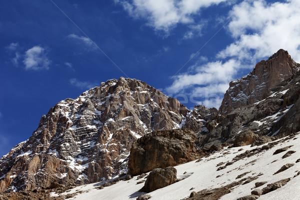 岩 雪 いい 春 日 トルコ ストックフォト © BSANI
