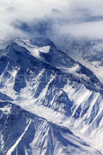 Top view neve montagna ghiacciaio nebbia Foto d'archivio © BSANI