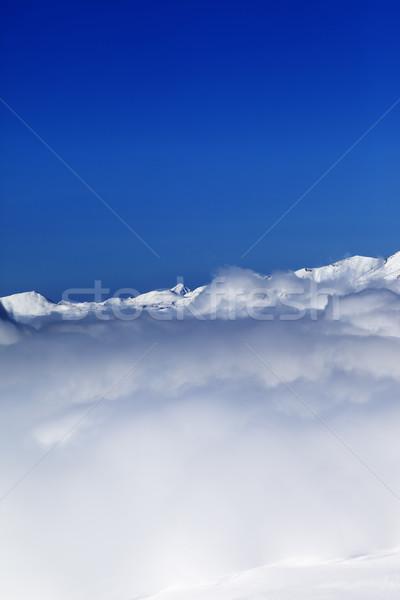Mętny góry nice słońce dzień kaukaz Zdjęcia stock © BSANI