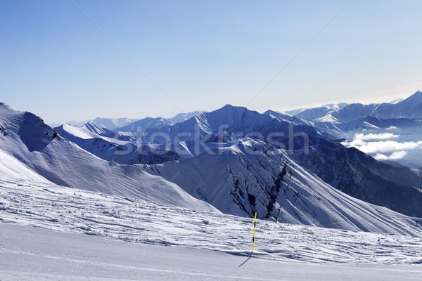 Ski slope in morning Stock photo © BSANI