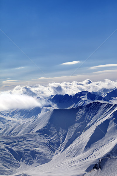 Winter kaukasus bergen avond Georgië regio Stockfoto © BSANI