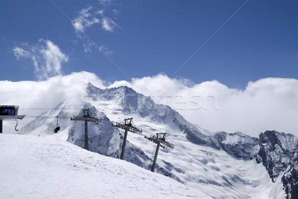 Ski resort. Caucasus Mountains. Stock photo © BSANI