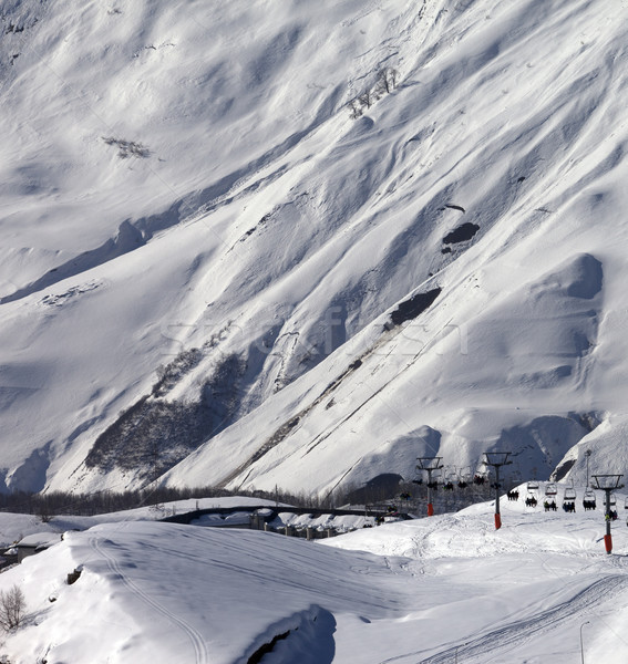 View on ski resort Gudauri in sunny day Stock photo © BSANI