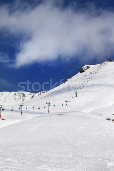 Chair-lift and ski slope Stock photo © BSANI