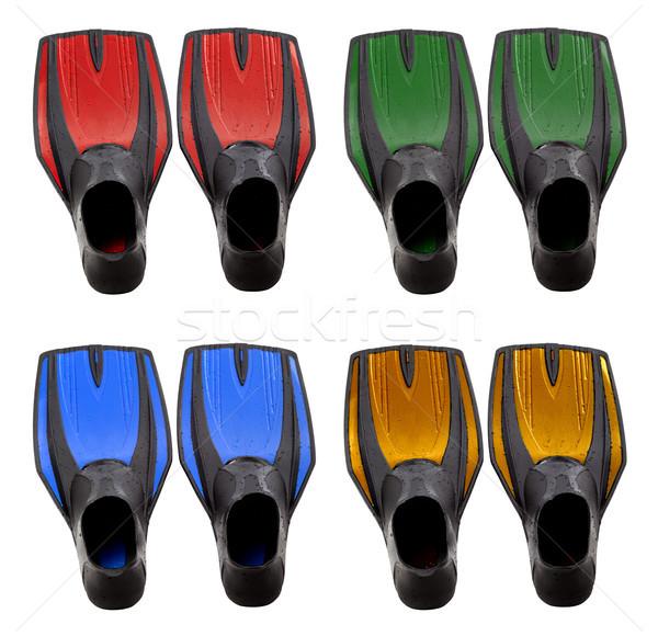 Set of multicolored swim fins Stock photo © BSANI