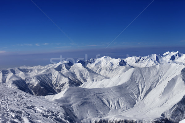 View on off-piste slopes and blue sky Stock photo © BSANI