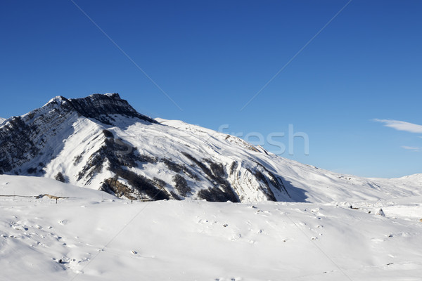 Winter mountains after snowfall at sun day Stock photo © BSANI