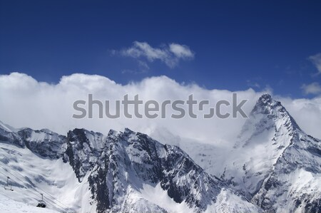 Panorama Caucasus Mountains. Dombay.  Stock photo © BSANI