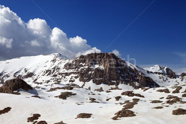 Snowy rocks in nice day Stock photo © BSANI