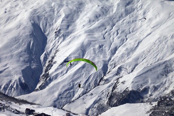 Speed flying in winter mountains Stock photo © BSANI