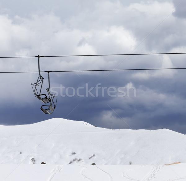 Cadeira ventoso cinza dia cáucaso Foto stock © BSANI