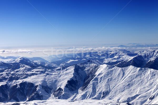 Winter snowy mountains in sun day Stock photo © BSANI