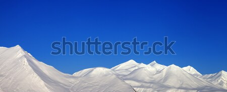 Panoramisch bergen Blauw heldere hemel kaukasus Stockfoto © BSANI