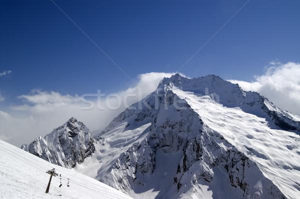 Ski slope. Ski resort. Stock photo © BSANI