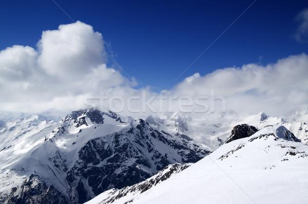 Stock photo: Ski slope at sun day