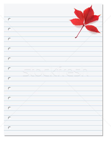 Portable papier rouge automne Virginie feuille Photo stock © BSANI