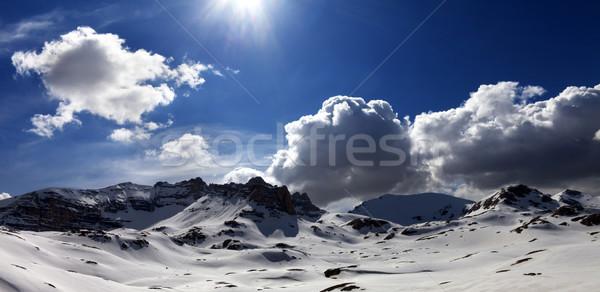 パノラマ 表示 高原 カバー 雪 トルコ ストックフォト © BSANI