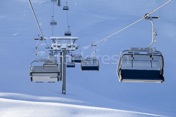 Ski-lift at early morning Stock photo © BSANI