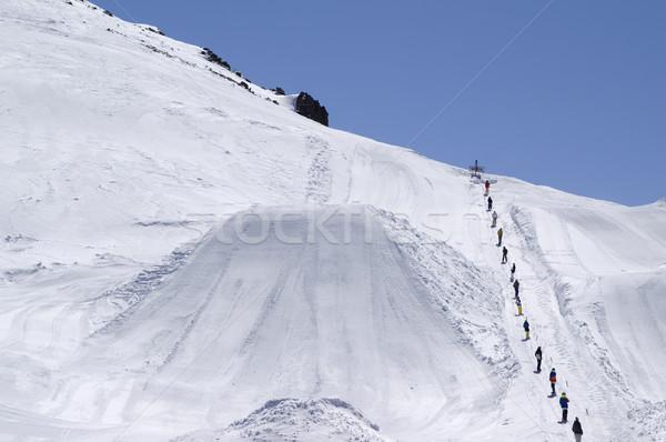 Сток-фото: большой · воздуха · лыжных · курорта · Кавказ · гор