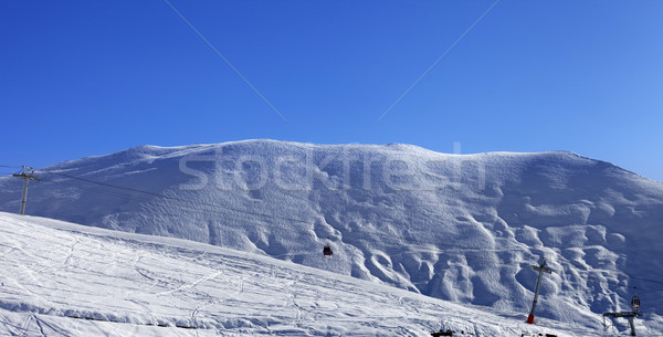 Panoramic view on gondola lift and ski slope Stock photo © BSANI