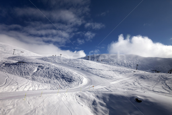 Ski resort with off-piste and ratrac slope.  Stock photo © BSANI