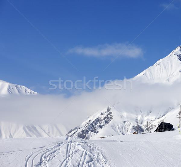 Kış başvurmak kafkaslar dağlar güzel gün Stok fotoğraf © BSANI