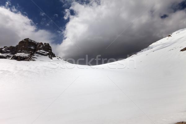 Montana cielo nubes de tormenta Turquía central Foto stock © BSANI