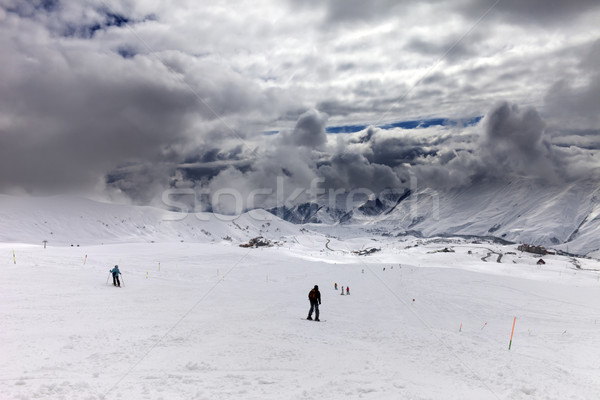 Regen kaukasus bergen Georgië ski Stockfoto © BSANI