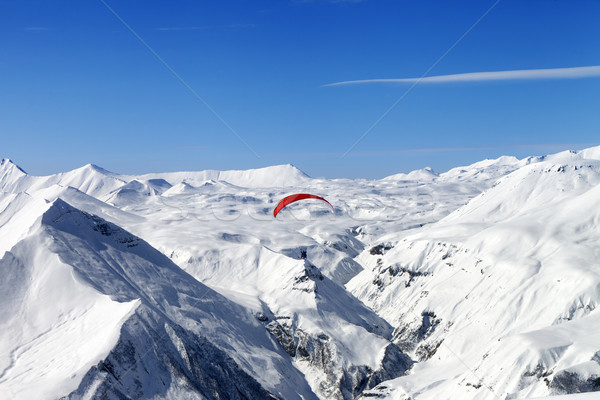 Sky gliding in Caucasus Mountains Stock photo © BSANI