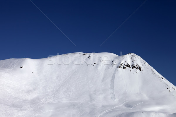 Off-piste slope with trace of skis, snowboarding and avalanche Stock photo © BSANI