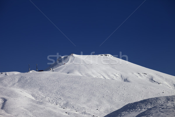 Off-piste slope with traces of skis at nice sunny day Stock photo © BSANI
