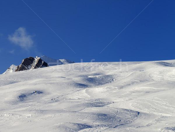 Skiing slope at evening Stock photo © BSANI