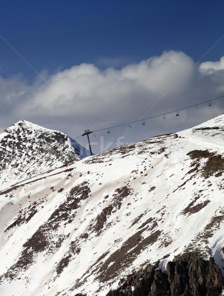 スロープ 雪 年 コーカサス 山 ストックフォト © BSANI