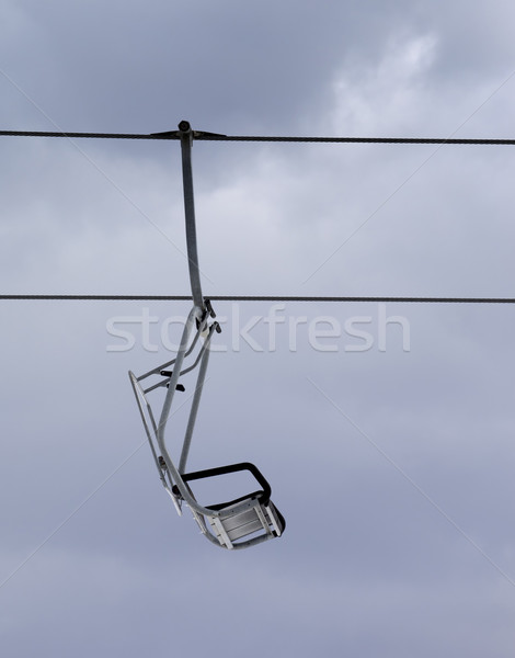 Chair-lift and gray sky Stock photo © BSANI