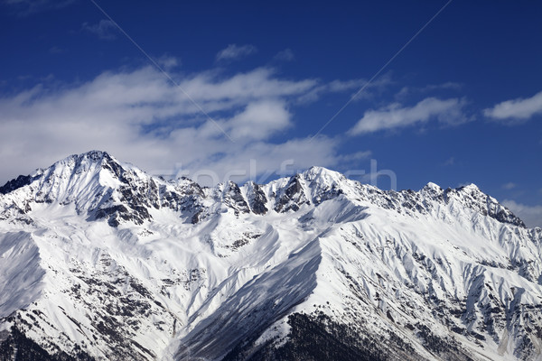 Winter mountains at sunny day Stock photo © BSANI