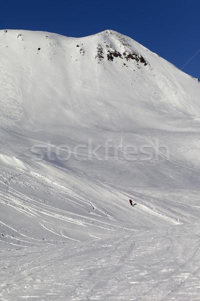 Skiers on ski piste Stock photo © BSANI